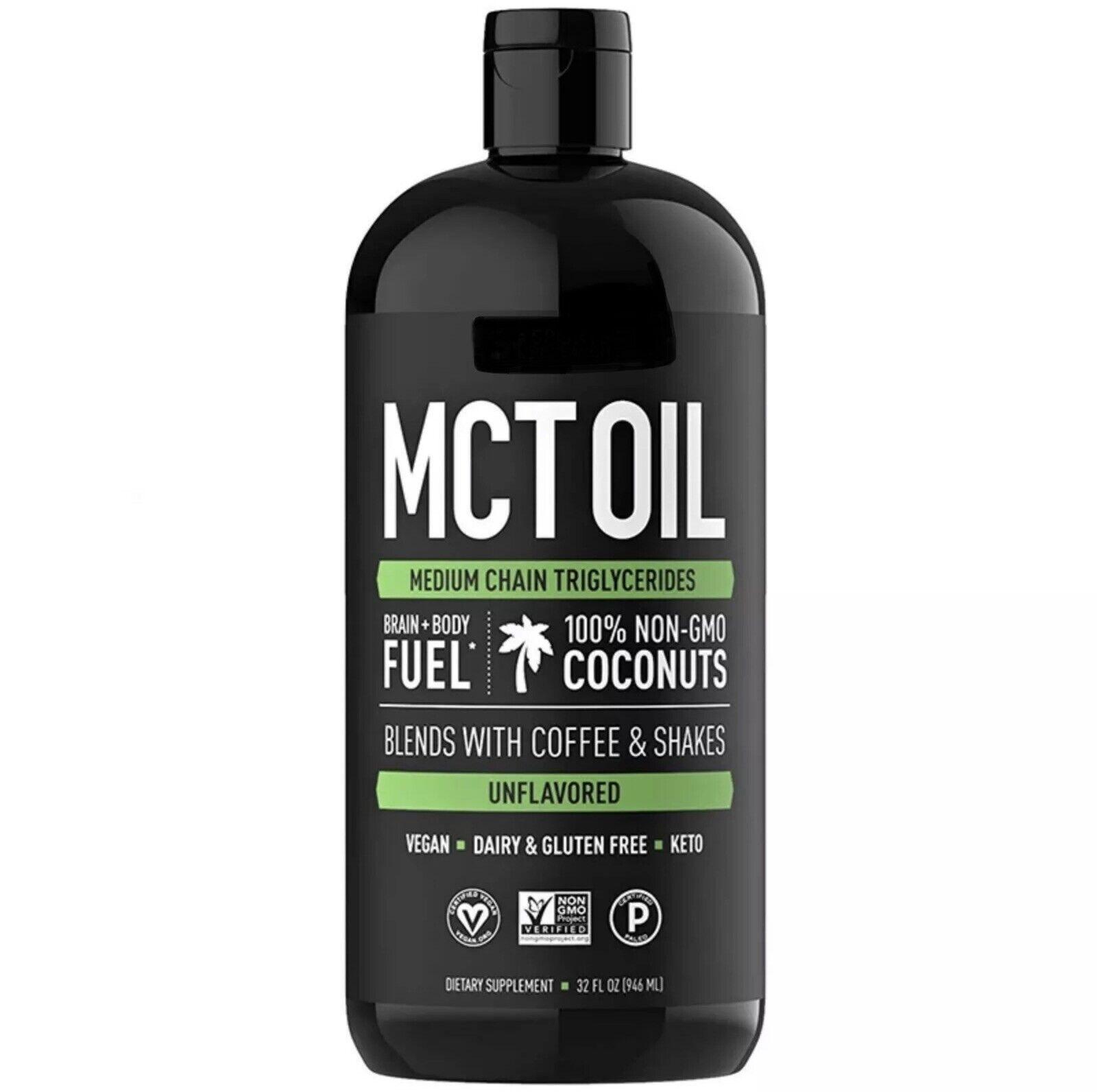 Premium MCT Oil - Keto Diet Vegan Friendly Coconut Oil 32 Oz