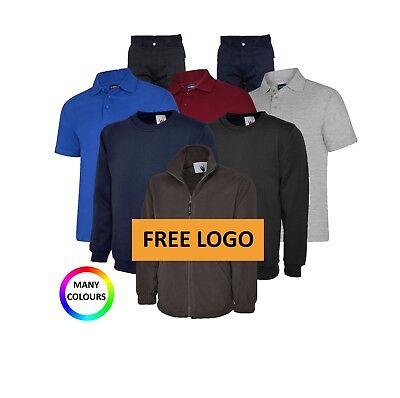 Personalised Embroidered Workwear Bundle Polo Shirt Fleece Sweatshirt Trousers