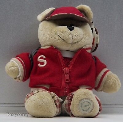Starbucks 33rd Bearista 2004 Bear Boy with Back to School Outfit NWT](Starbucks Outfit)