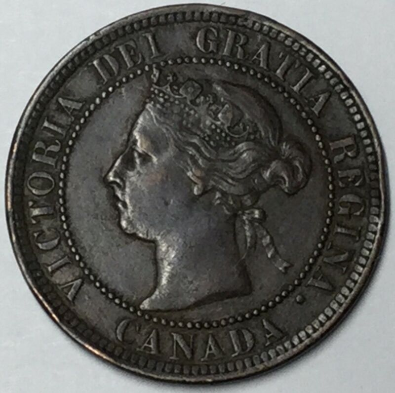 1884 Canada Large Cent XF Uncertified #