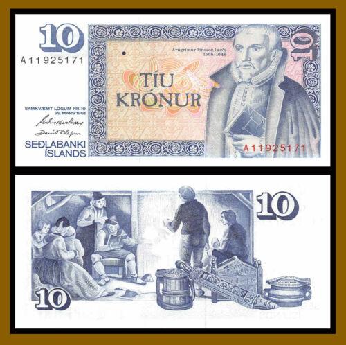 Iceland 10 Kronur, 1981 P-48 Banknote Unc