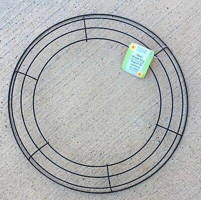 "14"" Green Wire Round Wreath Form Mesh Burlap Crafts NWT FREE SHIP Macrame Decor"