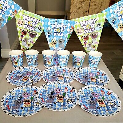 PUPPY DOG PALS Birthday Party Supplies BALLOON BANNER CUP BRACELET DECORATION