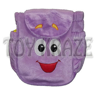 DORA THE EXPLORER MR. FACE PLUSH BACKPACK! PURPLE SOFT BAG GIRLS 9