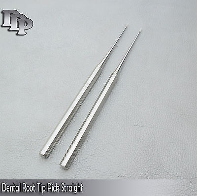 2 Pcs Dental Root Tip Pick Straight Dental Instruments Good Quality