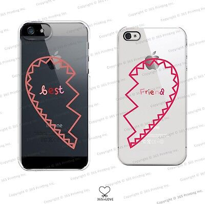 Best Friends Clear Matching Phone Cases for BFF - iphone 4 5 5C Galaxy S3 S4