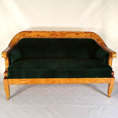 Biedermeier Sofa Birke Polster Liege chaise longue Sitz Möbel Wohnen Empire   - Birke Wohnzimmer Sofa