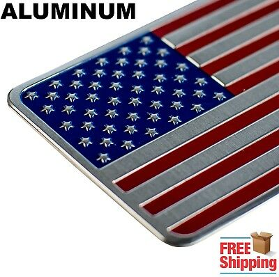 3D METAL American Flag Sticker Decal Emblem Bumper Sticker For Auto, Truck, Car