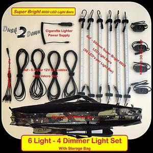6-Rigid-Strip-Lights-12V-LED-Camping-Camp-Tube-Outdoor-Dimmable-Light-Set-Lamp
