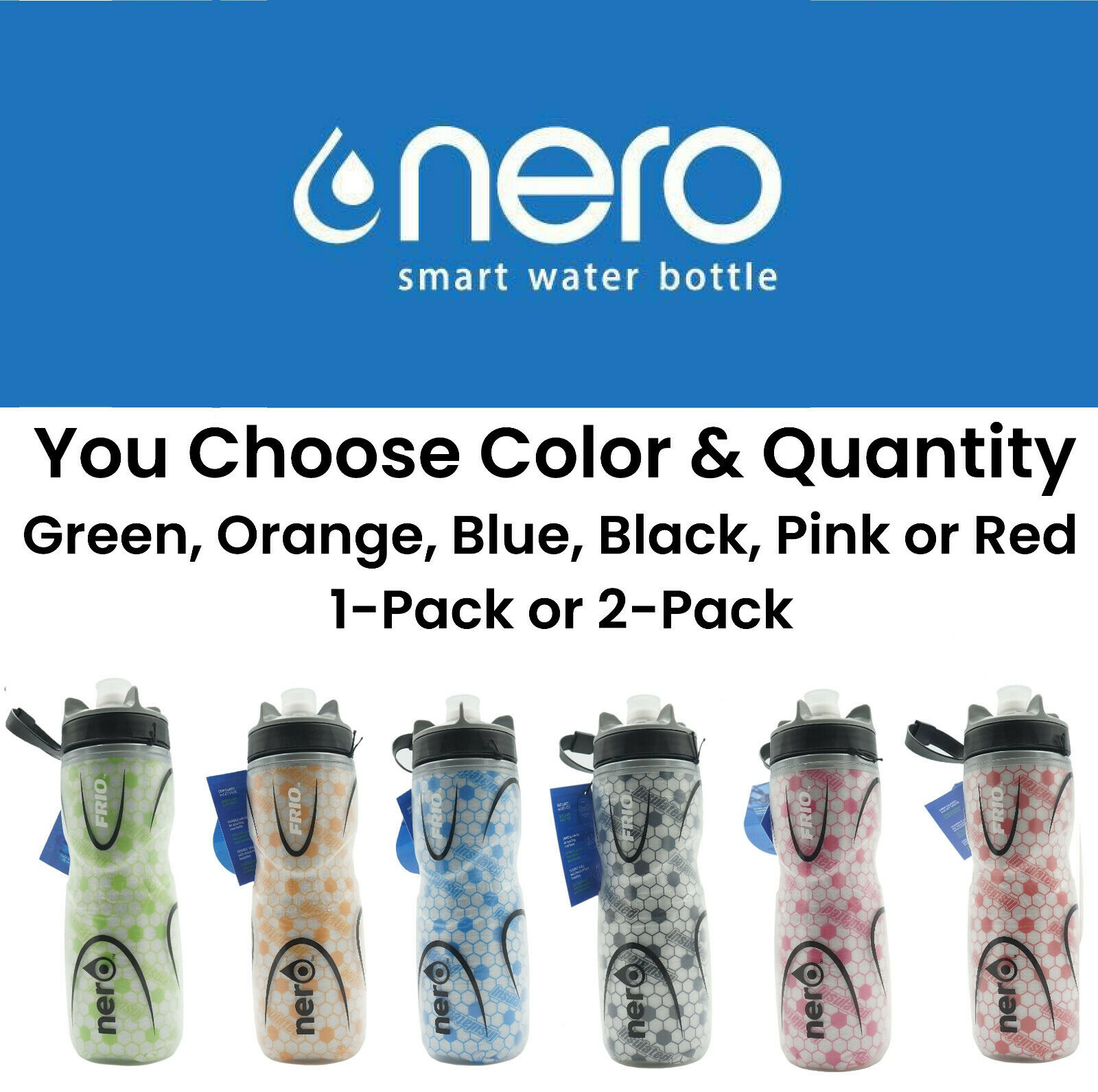 Nero Frio Positive Insulated Thermos Water Bottle 650ml Leak