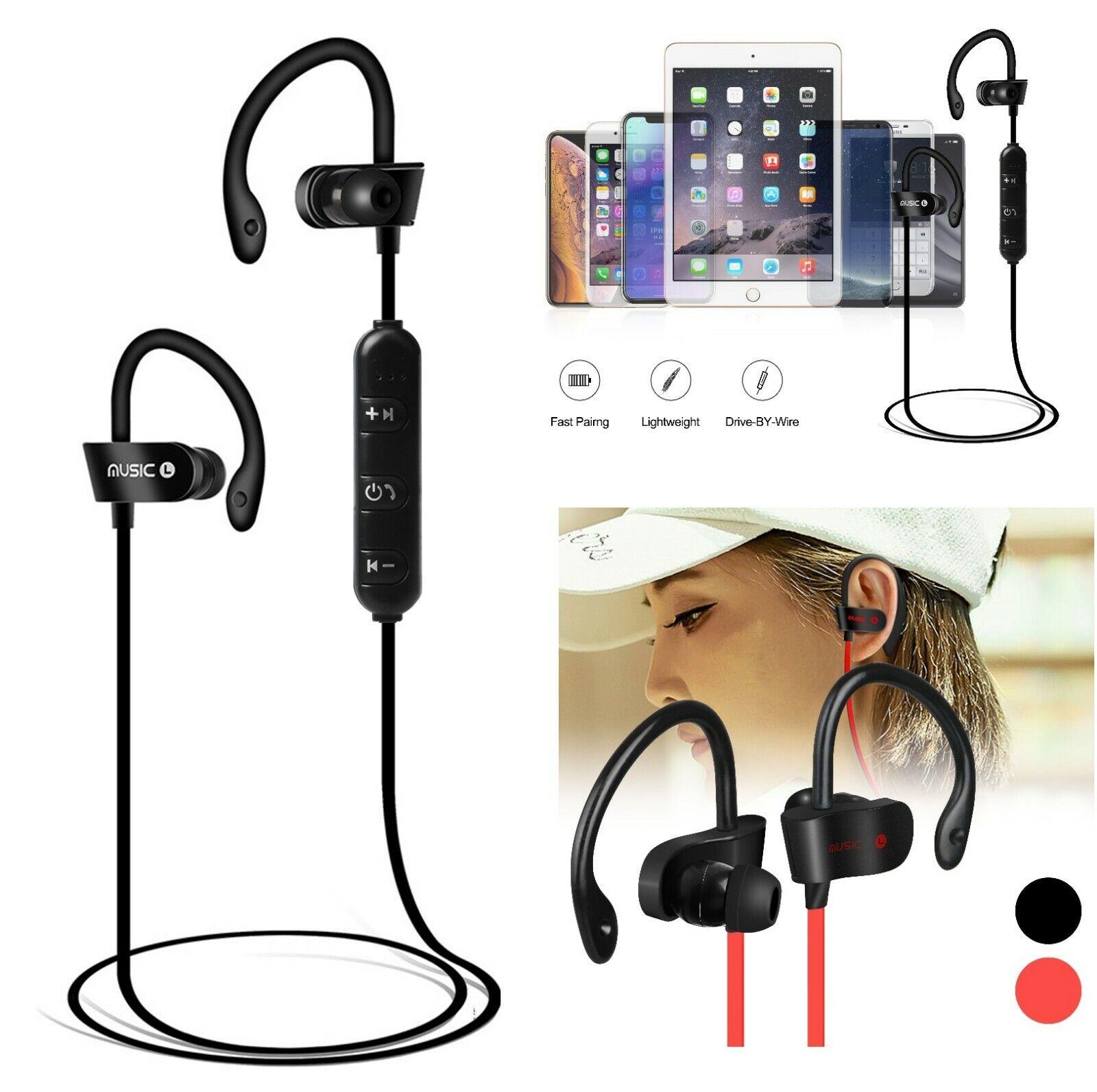 Sweatproof Sport Bluetooth Headset Wireless Headphones In-Ea