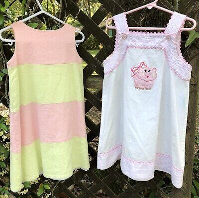 Little Girls Dress Lot Of 2 Size 5 Boutique Dress Lot Applique Remember Nguyen