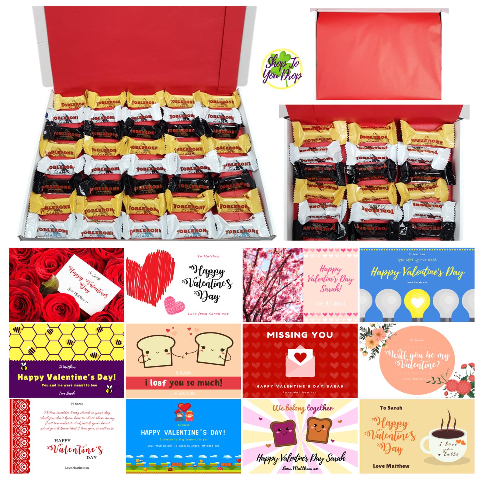 Details About Mini Toblerone Milk White Dark Valentines Day Gift Box Husband Boyfriend