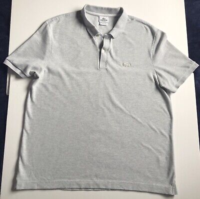 Lacoste Mens Grey Polo Shirt Size 7