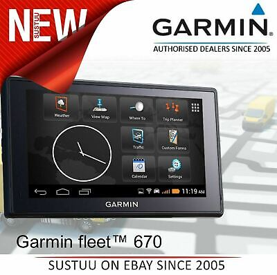 Garmin Fleet 670 Truck Advance GPS SatNav│Free Lifetime Europe Map Update+Trafic