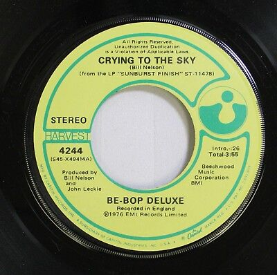 Rock / Pop 45 Be-Bop Deluxe - Crying To The Sky / Ships In The Night On