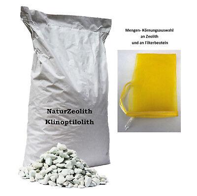 25 kg Zeolith Filtermaterial Phosphatbinder Zeolite Zeolit + 1-4 Filterbeutel online kaufen