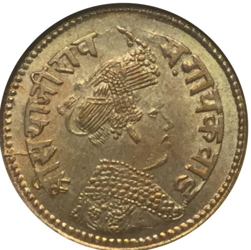 India Baroda VS1949 4 annas NGC MS63 Superb tone and condition free ship in US