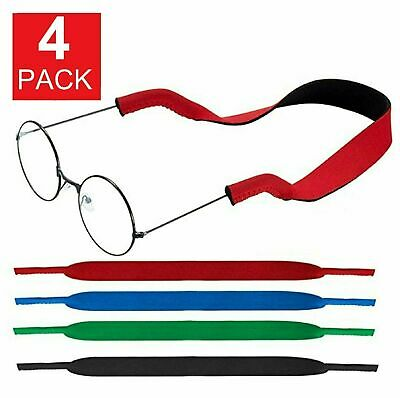 4-Pack Sports Sunglasses Neck Cord Strap Eyeglass Glasses String Holder Eyeglass Straps, Cords & Grips
