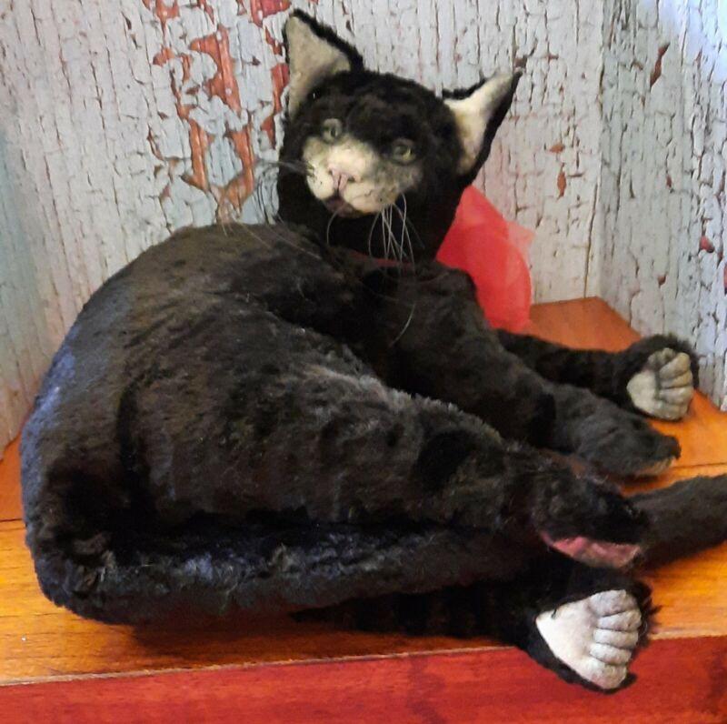 OOAK Artist Linda Ashcraft Black Cat, Rare Find