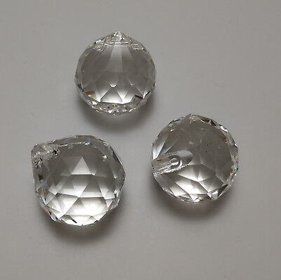 Feng Shui Energy Crystal Clear Prism with Instructions and gift bag 20 mm 3 pcs