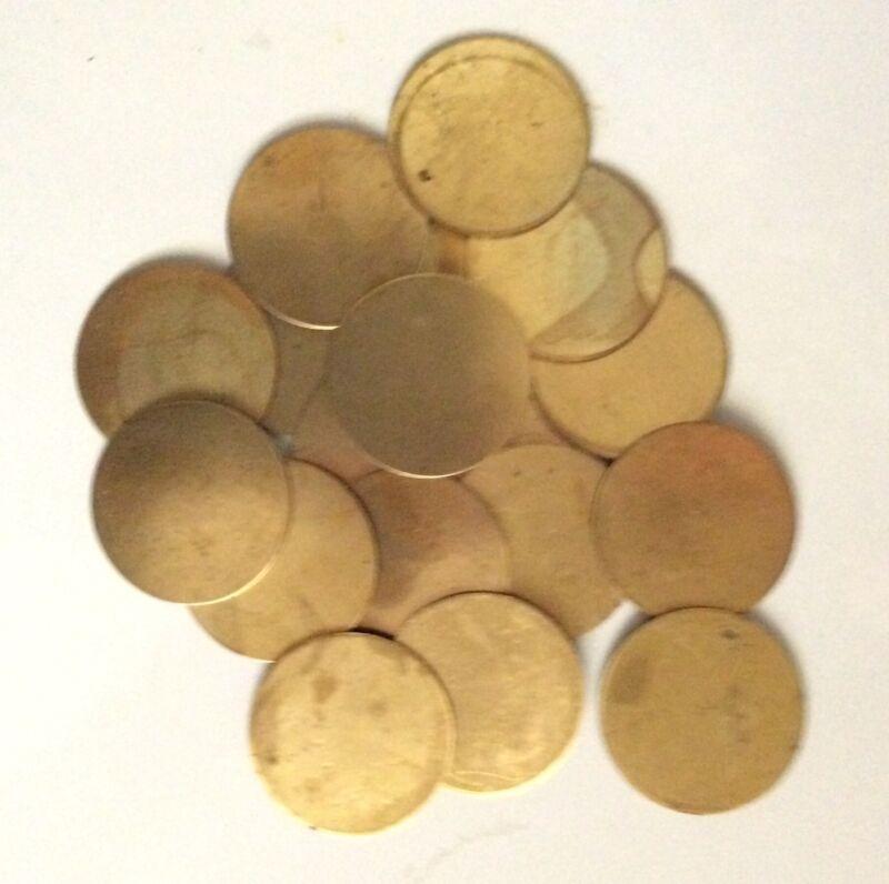 Brass Discs, Brass Round Blank, Brass Plate, Brass Sheet, Jewelry Material 20pcs