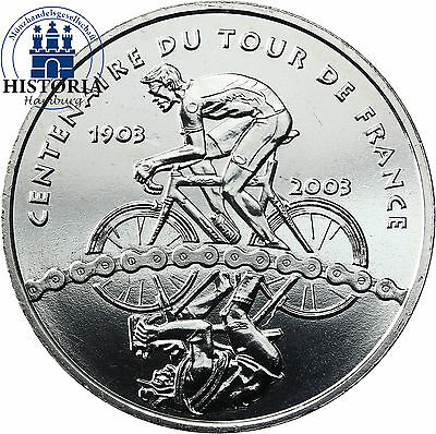 Quarter Euro Frankreich 1/4 Euro Silbermünze 2003 TDF Tour de France CoinCard (1 4 Silber Münze)