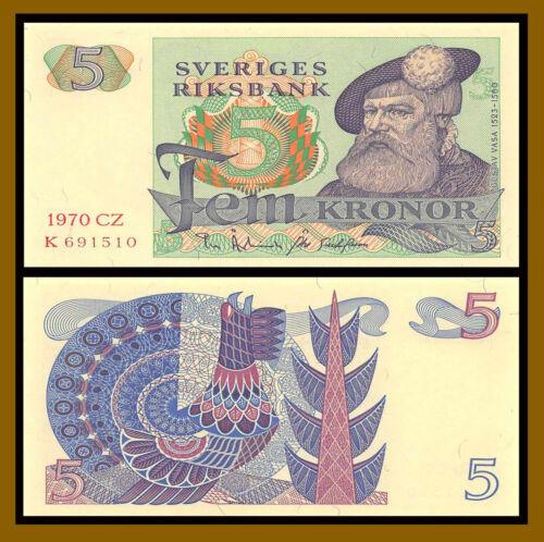 Sweden 5 Kronor, 1970 P-51b Uncirculated (Unc)