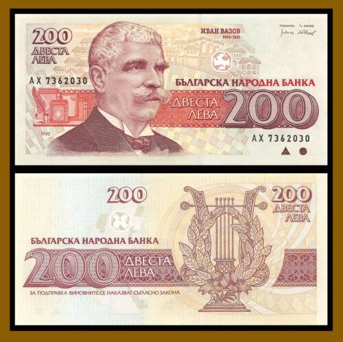 Bulgaria 200 Leva, 1992 P-103 Banknote Unc