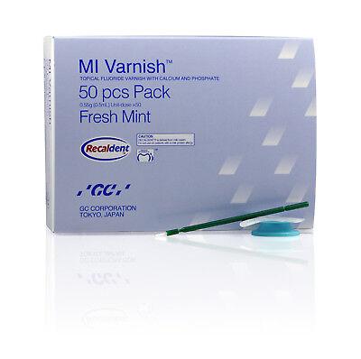 Gc Mi Varnish Topical Fluoride Calcium Phosphate Fresh Mint 50 Pcs - Fda