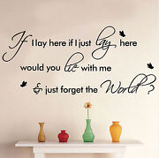 Lyrics Wall Stickers