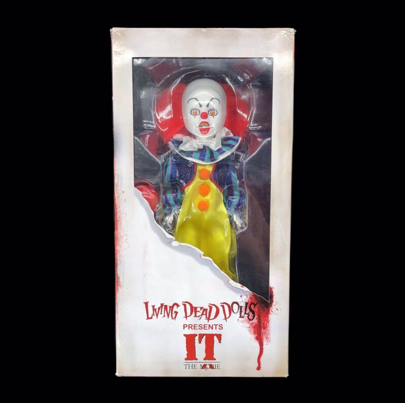 New   Mezco Living Dead Dolls It Movie Pennywise Clown Toy Horror Stephen King