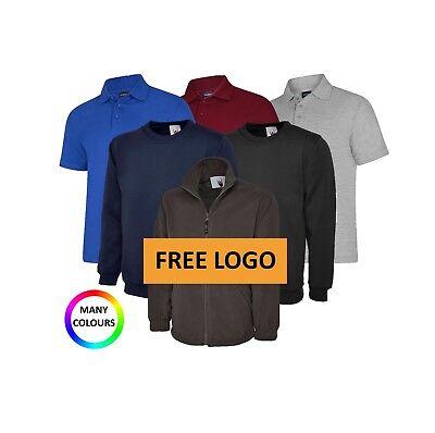 Personalised Embroidered Workwear Bundle Polo Shirt Fleece Sweatshirts INC VAT