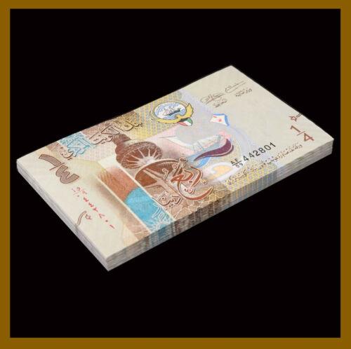 Kuwait 1/4 (Quarter) Dinar x 25 Pcs Quarter Bundle, 2014 P-29 Banknote Unc
