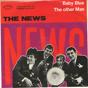The News- Baby Blue 7 PS-Made in Germany- 60er Jahre Beat-Rock-+ Autogrammkarte