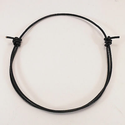 Black or Brown Leather 3mm Adjustable Unisex Cord Surfer Choker Necklace