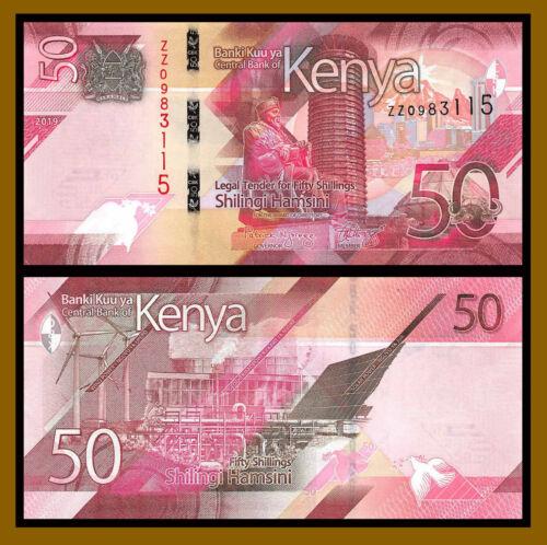 Kenya 50 Shillings, 2019 P-New Power Plan & Solar Panel Replacement (ZZ) Unc