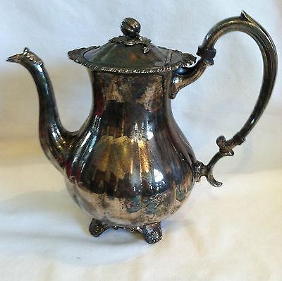 Marlboro Silverplate Old English,Repro# 416 Coffee Pot EP Copper Pumpkin on Top