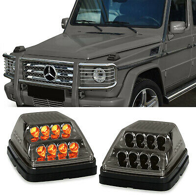 Dynamische LED Blinker smoke schwarz für Mercedes G Klasse Modell W463 ab 89