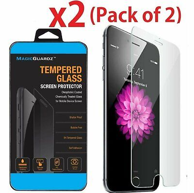 For Apple iPhone SE (2020) 9H Premium Tempered Glass Screen Protector【2 Pack】 Cell Phone Accessories