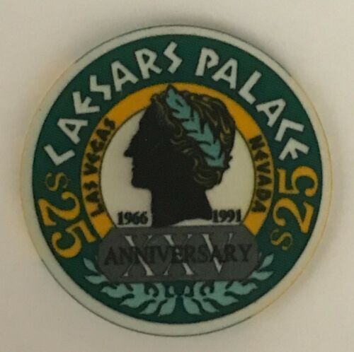 Caesars Palace Las Vegas 25 Anniversary $25 Casino Chip