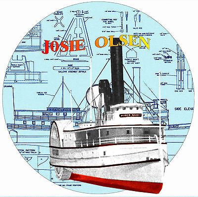 "Build This  37"" Radio Control Paddle Wheeler River Boat Plans & Build note on Cd"