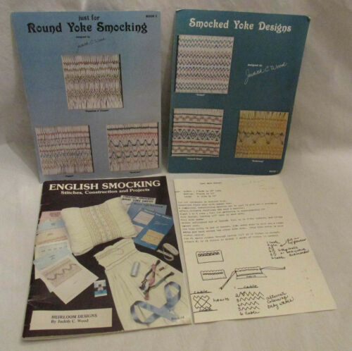 Heirloom Designs English Smocking Book Round Yoke Designs 3 Books Judith Wood