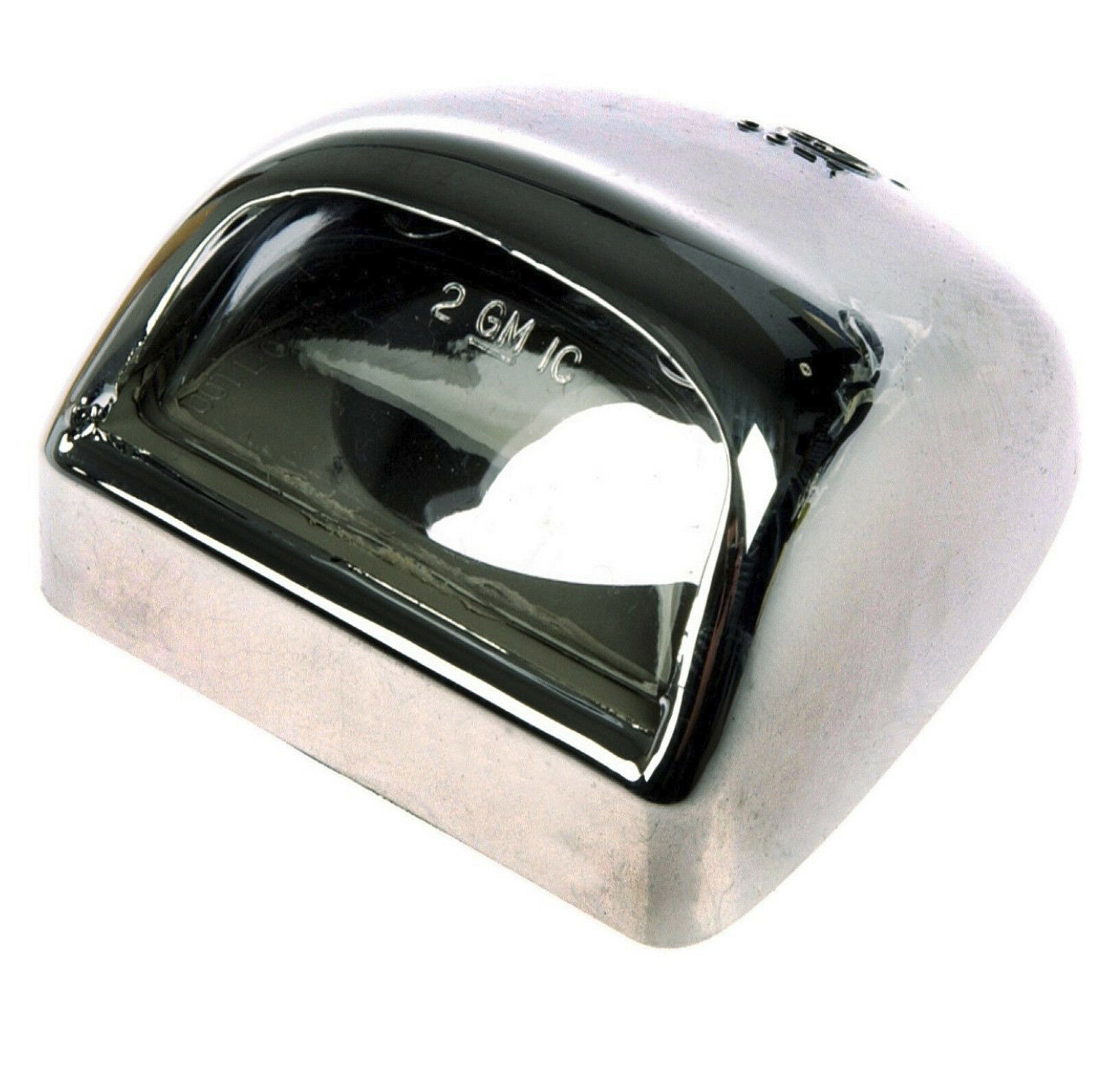 Chrome Replacement Bumper License Plate Light Lens Lamp Housing for GM 15049281
