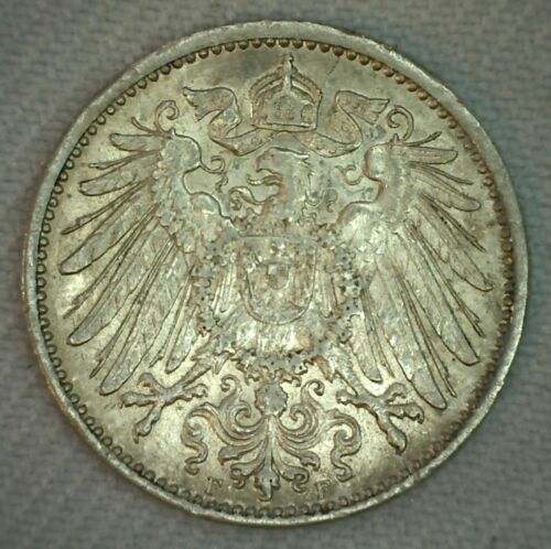 1906 F Germany Empire Mark Uncirculated Silver