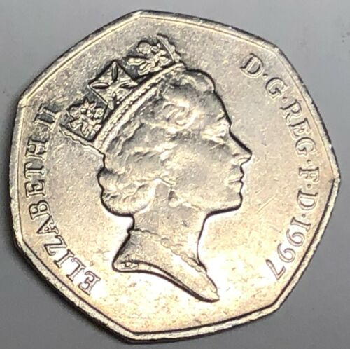 # C8787     GREAT BRITAIN     COIN,     50  PENCE    1997    Au