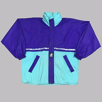 Vintage 90's K-way Colourblocked Windbreaker Size Medium