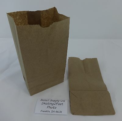 Qty 500 #2 Paper Brown Kraft Natural Sack Grocery Merchandise Retail Bags