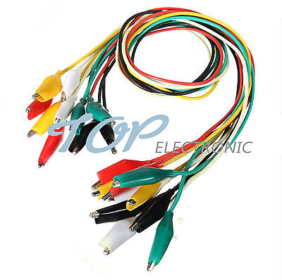 50cm Double-ended Crocodile Clips Cable Alligator Clips Testing Wire
