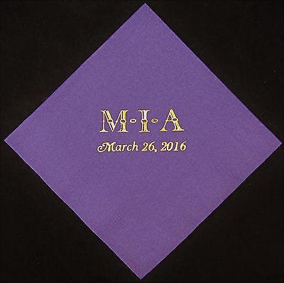 225 Monogram luncheon dinner napkins wedding napkins anniversary favors  - Monogrammed Wedding Napkins